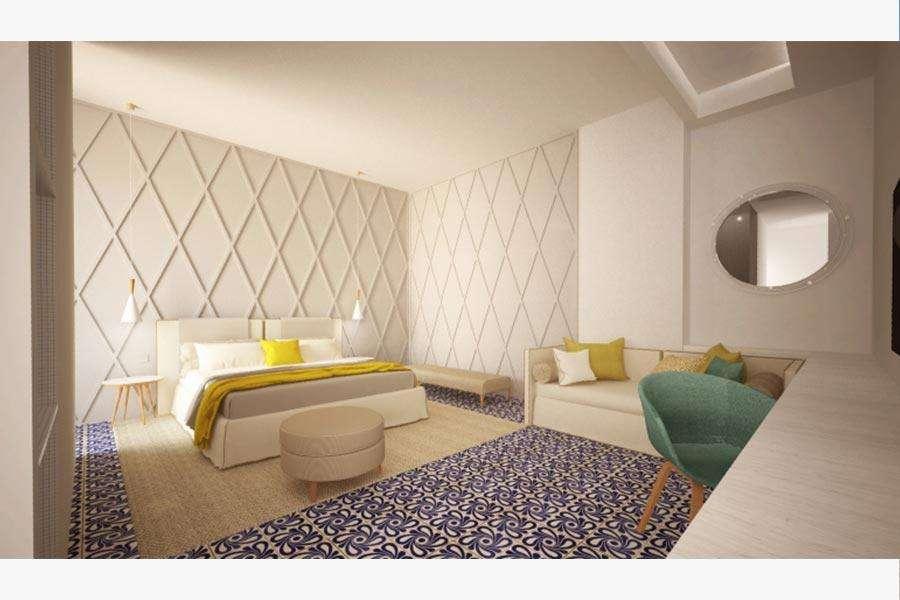 interno camera hotel salento